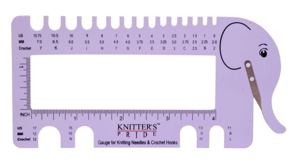 Knit Pro Nadelgrößenschablone Lilac