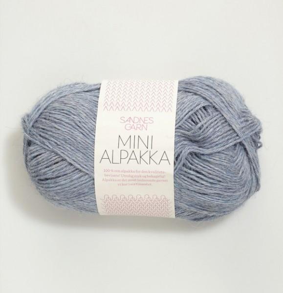 Mini Alpakka - Hellblau meliert (6221)