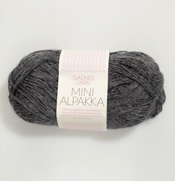 Mini Alpakka - Dunkelgrau meliert (1053)
